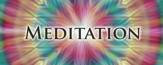 Meditation banner with energy mandala